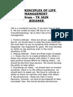 21 Principles of Life Management From Tk Jain Bikaner
