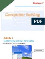 Ictl Form 1 - Module 7)Computer Setting