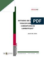 Informe de Estudio de Opinión Percepción sobre Corrupcion - Lambayeque 2010