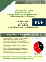 Md. Fazley Rabbi - Growing Rural Economy Through Solar Power