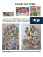 Scrappy Snowball Quilt Tutorial