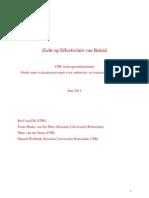 Achtergronddoument Zicht Op Effectiviteit Van Beleid (CPB)