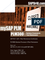 PLM300 Business Processes in Plant Maintenance