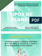 Planificacion Tipos de Planeas