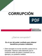 Exposición sobre Corrupción
