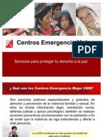Que son los Centros de Emergencia Mujer