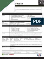 175Kw Genset Spec Sheet