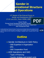 Gender in ADB Organizational Structure and Operations