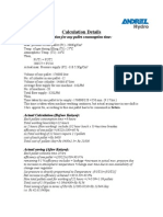 Gas Consumption Calculation