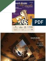 Programma Concerti Villa Guariglia 2011