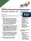 ecdp Monthly Bulletin 26