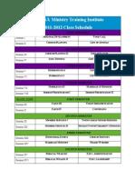 AZUSA MTI Class Schedule for Blocks 3&4
