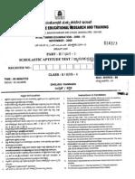 NTSE 2010 Karnataka SAT Question Paper