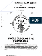 #4 - CM Bey, Certificate No AA222141 and Moorish Civic Relations Concepts