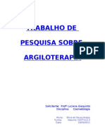 Argiloterapia - Trabalho de Pesquisa