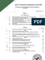 Cusat 4th Sem CE Question Paper