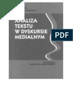 Analiza tekstu w dyskursie medialnym-Małgorzata Lisowska-Magdziarz