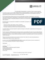 Carta de Presentación de Servicios  2011