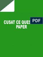 Cusat CE Question Paper