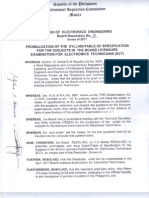 ECE Board Resolution for ECT Exam