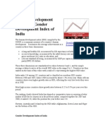 Human Development Index and Gender Development Index of India