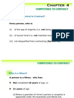 Competence to Contract