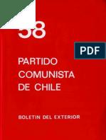 Boletín del Exterior Partido Comunista de Chile Nº58