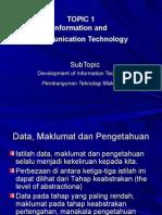 TOPIC 1-Data Maklumat Dan Pengetahuan