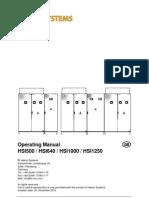Operation Manual HSI500 HSI640 HS1000 HSI1250 V31 Eng