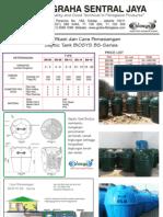 Septic Tank Fiberglass Biotech System