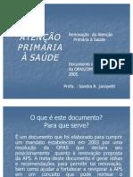 ATENÇÃO PRIMÁRIA À SAÚDE- doc OPAS e OMS