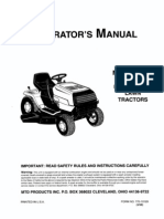 Ranch King Lawn Tractor Owner's Manual