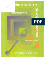 Diseño de Experimentos - Montgomery
