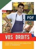 Droits des travailleurs dans le Commerce (cp 121) Belgique