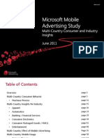 2011 Microsoft Multi Country Smartphone advertising Insights Study