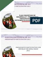 PLAN CONCERTADO DE DESARROLLO Y  PRESUPUESTO PARTICIPATIVO COMO INSTRUMENTOS DE BUEN GOBIERNO