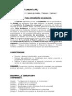 DESARROLLO COMUNITARIO, asignatura