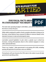 Five Facts about PA State Budget