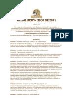 RESOLUCIÓN 3900 DE 2011