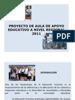 Proyecto de Aula de Apoyo 2011