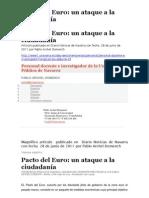 Pacto Del Euro Un Ataque a La Ciudadania Por P. Archel Domench