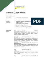 Iván Quispe Hilarión - Ctrl. Equipo Mecánico