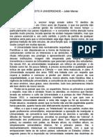 Julian Marias - Estado e Universidade