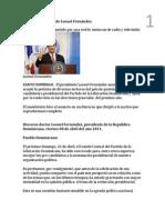 Texto del discurso de Leonel Fernández