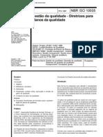 NBR 10005 Diretrizes Planos Qualidade