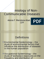 Epidemiology of Non-Communicable Diseases
