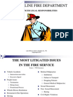 Fire Officer Legal Responsibilities