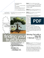 Fruitfulness 1 - 1 Sam 14-6-14 Handout 071011