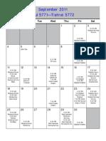 UT Calendar 2011-2012