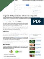 Imagem do HD_ faça um backup de todo o seu computador